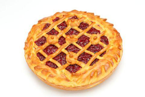 Пирог с брусникой (постный)