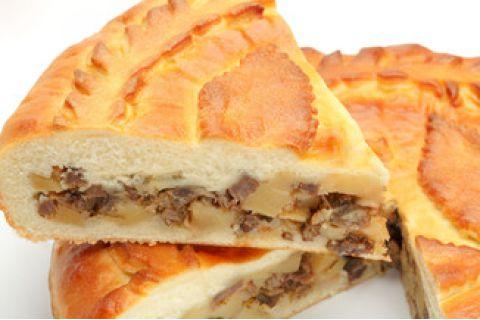Пирог с говядиной и картофелем