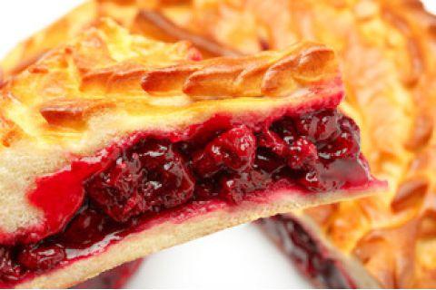 Пирог с вишней (постный)