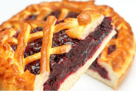 Пирог с ежевикой (постный)