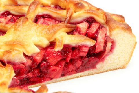 Пирог с яблоком и клюквой (постный)