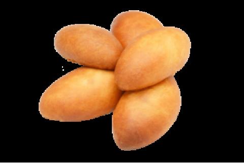 Пирожок с яблоком и клубникой (постный)