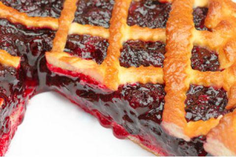 Пирог с черной смородиной (постный)