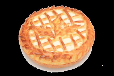 Пирог с творогом и ежевикой