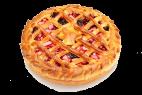 Пирог с яблоком и черной смородиной