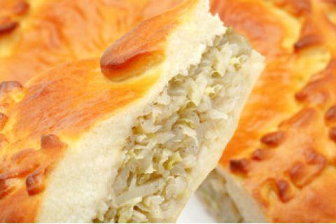 Пирог с капустой (постный)