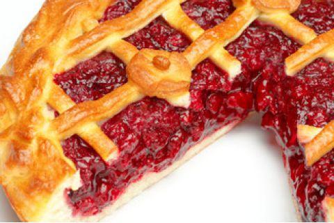 Пирог с клюквой (постный)