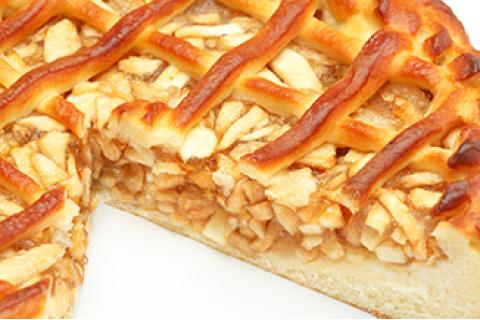 Пирог с яблоком и корицей (постный)