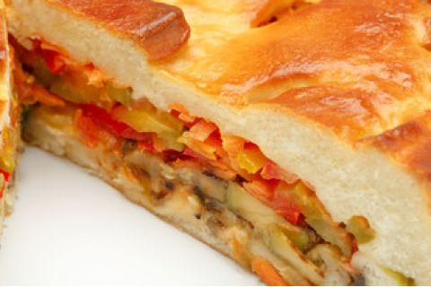 Пирог с овощами гриль (постный)