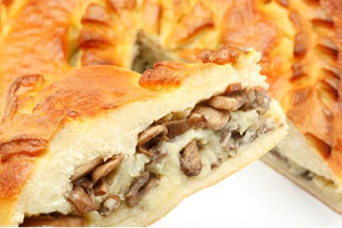 Пирог с картофелем и грибами (постный)